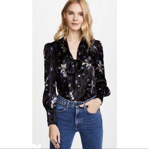 Rebecca Taylor Violet Floral Blouse. Retail- $375